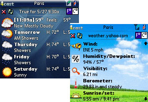4cast Weather App For Palm OS (90%)