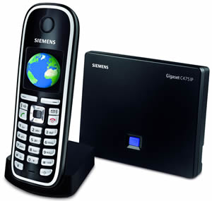 Siemens C475IP DECT Cordless VoIP Phone Review (77%)