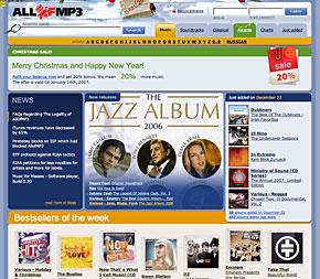 AllofMP3.com Gets Closed Down