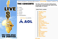 AOL To Broadcast Live 8 Event