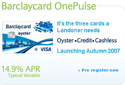 Barclaycard's OnePulse Credit Card Offers Oyster Functionality