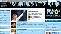 BBC's Live 8 and Glastonbury Websites Attract Record Traffic