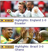 BBC World Cup Website Scores!