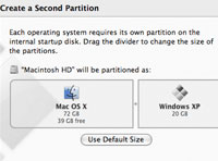 Boot Camp Runs Windows XP on Intel Macs
