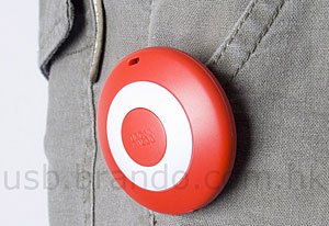 Brando 'Button Badge' USB Pedometer