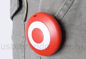Brando 'Button Badge' USB Pedometer