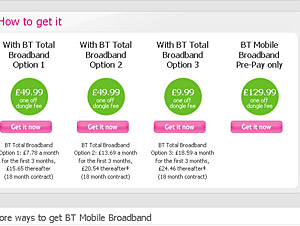 BT Announce Mobile Broadband Packages