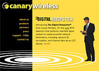 Digital Hotspotter Wi-Fi Signal Finder From Canary Wireless