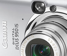 Canon PowerShot SD850 IS (Ixus 950) Announced