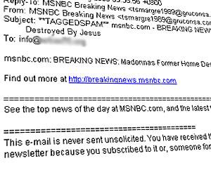 Fake CNN/MSNBC News Spam Hit 5 Million An Hour