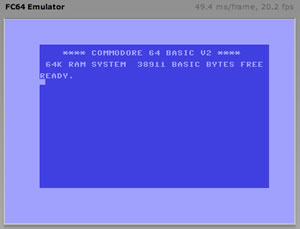 Commodore 64 Emulated In Flash