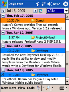 DayNotez v3 For Palm And Pocket PC Review (76%)