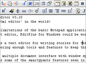 EditPlus Text/HTML Editor v3.10 Review (77%)