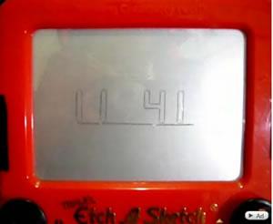 Etch A Sketch Clock: Fantastic