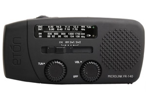Eton FR140 Microlink Wind-Up/Solar Powered Radio With Torch And Charger (86%)