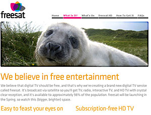 Freesat BBC and ITV Free HD Service Launches