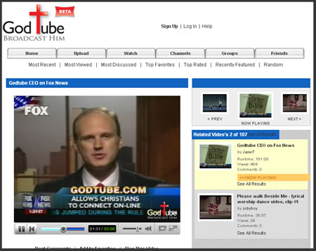 GodTube Jumps On YouTube's Tails