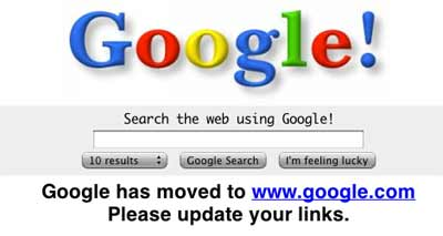 Google as it was seven years ago
