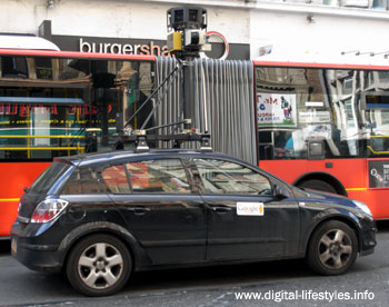 Google Street View Camera Car Snapped In Central London
