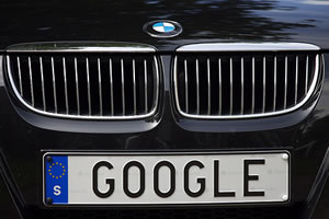 Google Car License Plate: Sweden