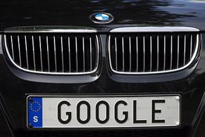Google Car License Plate: Sweden
