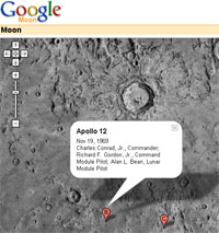 Google Moon 'launches'