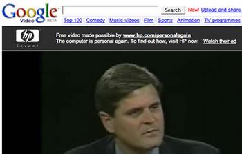 Google Video: Advertising Sponsorship