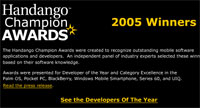 Handango Announces the Champion Award Winners for 2005