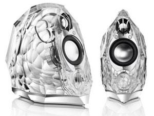 Cool Looking Speakers harmon kardon gla-55 speakers offer ice cool looks   digital