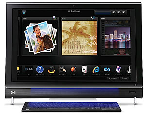 HP TouchSmart IQ800 Series Lifestyle PCs Packs 25in Touchscreens