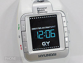 Hyundai W-100 Wrist Phone Stuffs In The Functionality