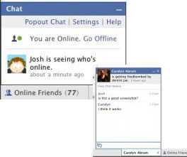 Facebook IM Chat: Least Secure