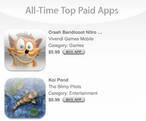 Apple Lists Top 20 Free And Paid iPhone Apps