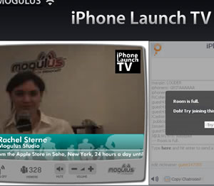 iPhone Madness: Live Web TV Channel In NY Shop