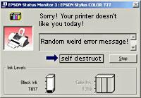 My Printer Hell