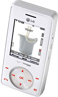 LG's Chocolate Phone Goes White