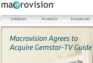 Macrovision Buying Gemstar-TV Guide