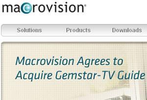 Macrovision Buying Gemstar-TV Guide