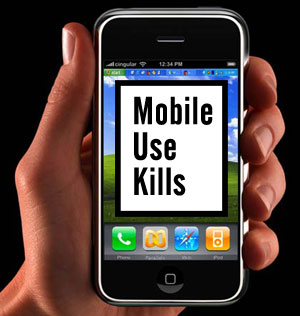 Why are mobile phones dangerous (science coursework)?