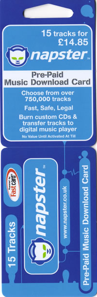 Napster pre-paid card