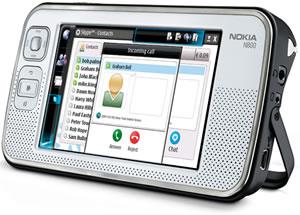 Nokia N800 Skype'd