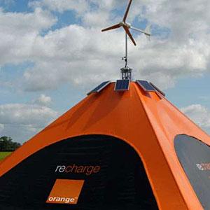 Orange Mobile Recharging Tent For Glastonbury
