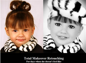Retouching Service Turns Pageant Children Into Plastic Freakshows