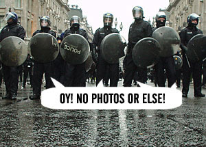 Photographers Protest Over Police Harassment