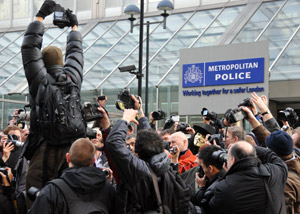 Photographers Protest Outside Scotland Yard