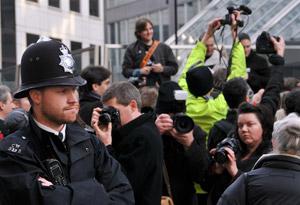 Photographers Protest Outside Scotland Yard