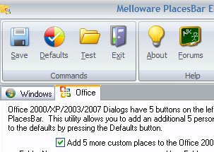 PlacesBar Editor: Windows XP Utility