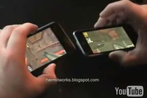 Quake 3 On iTouch Using Motion Sensors