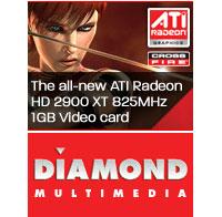 Diamond Multimedia Unleash Radeon HD 2900 XT 1GB Graphics Card