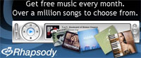 Real Rhapsody: To Go And Free Service Added